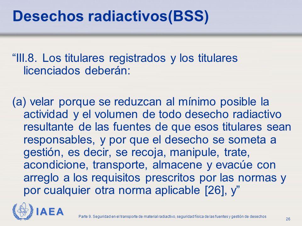 Desechos radiactivos(BSS)