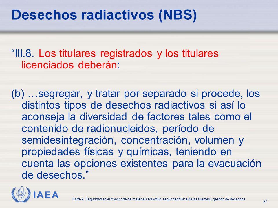 Desechos radiactivos (NBS)