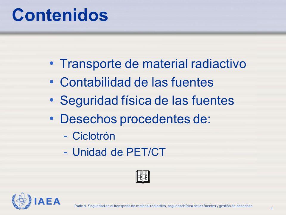 Contenidos Transporte de material radiactivo