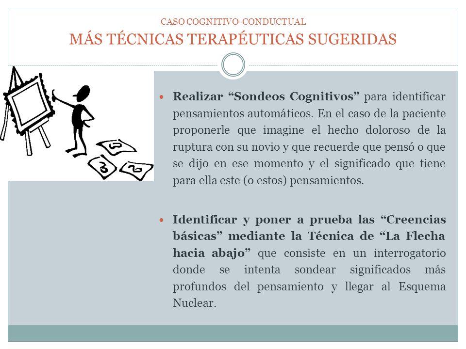 MÁS TÉCNICAS TERAPÉUTICAS SUGERIDAS