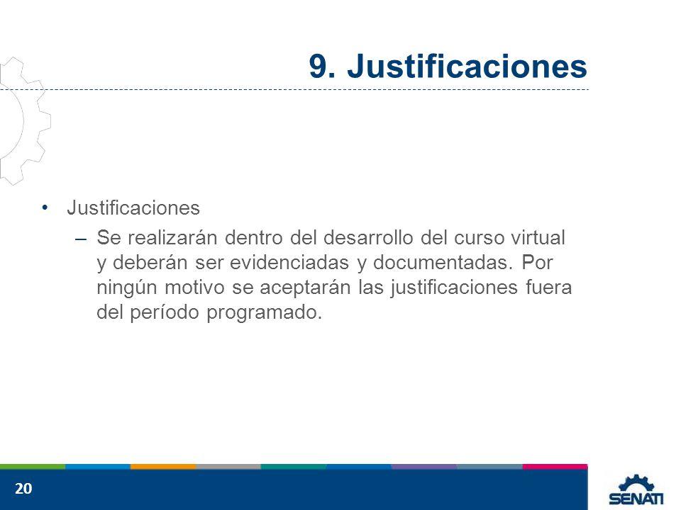 Justificaciones Justificaciones