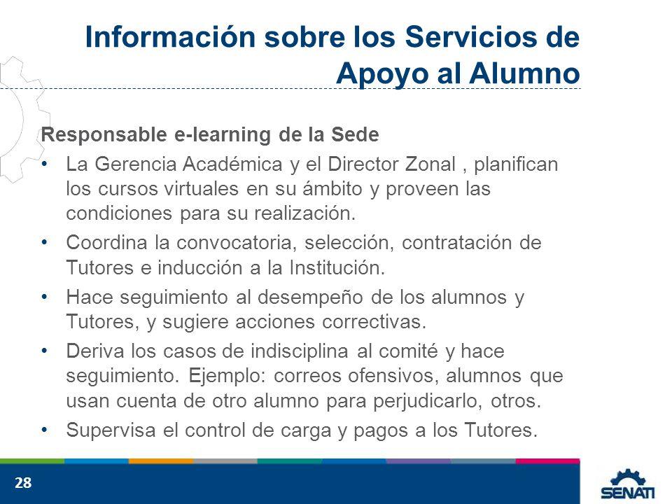 Información sobre los Servicios de Apoyo al Alumno