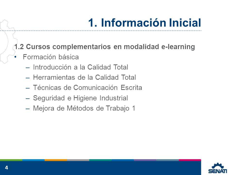Información Inicial 1.2 Cursos complementarios en modalidad e-learning