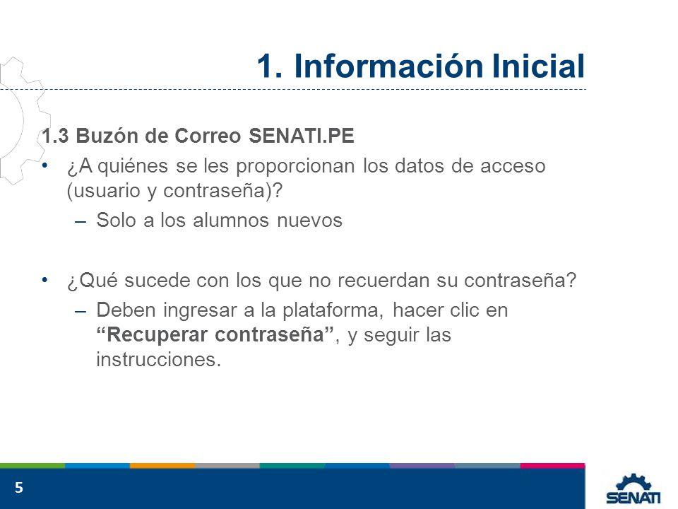 Información Inicial 1.3 Buzón de Correo SENATI.PE