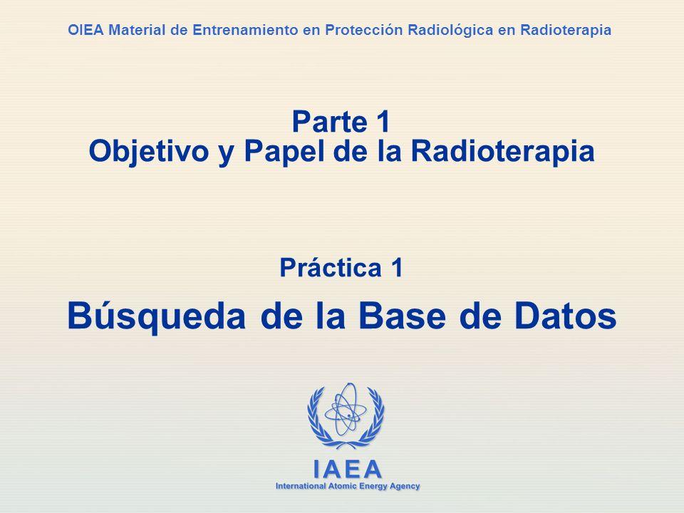 Parte 1 Objetivo y Papel de la Radioterapia