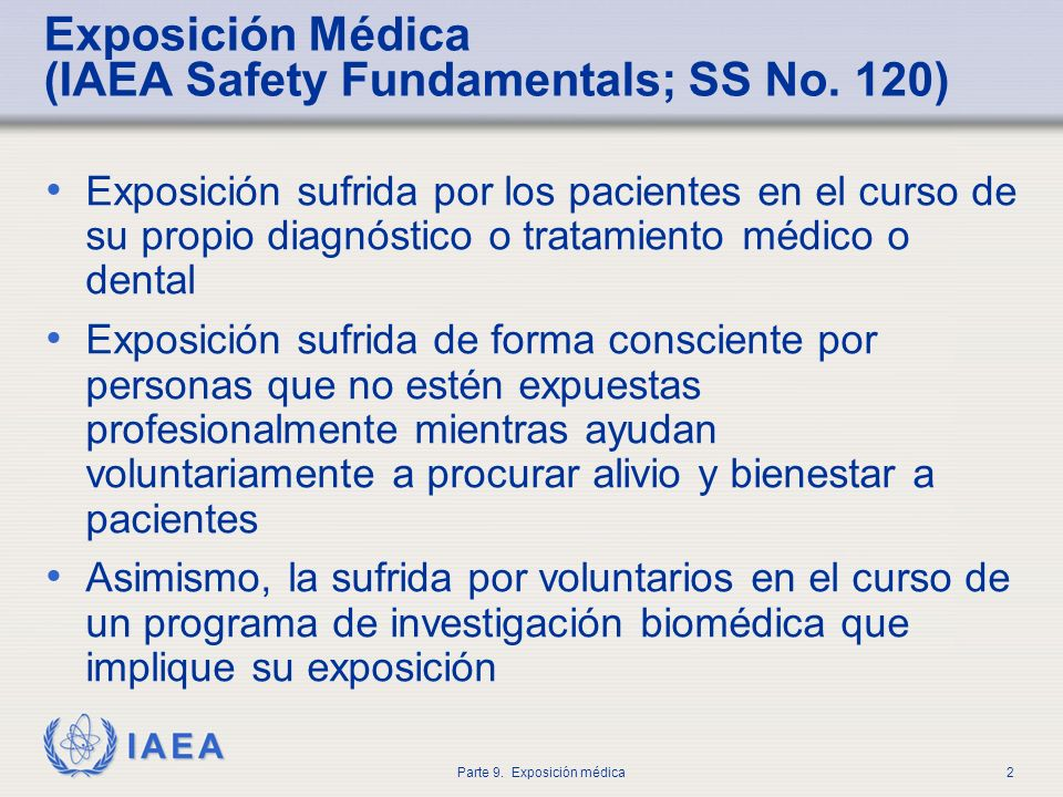 Exposición Médica (IAEA Safety Fundamentals; SS No. 120)