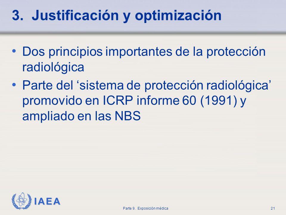 3. Justificación y optimización