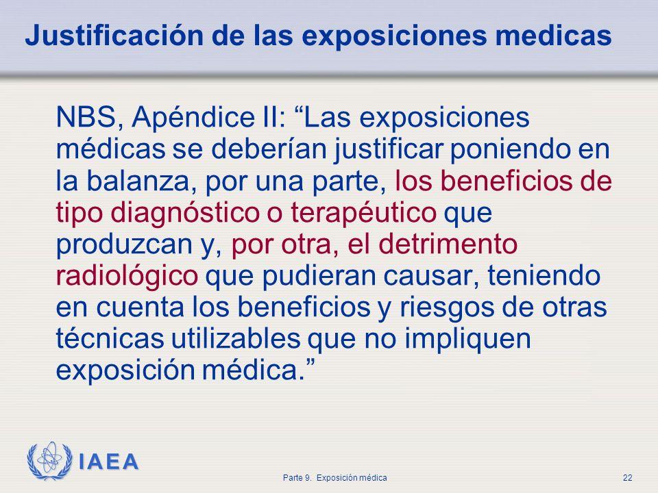 Justificación de las exposiciones medicas