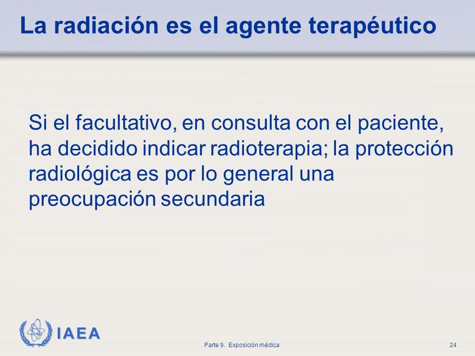 La radiación es el agente terapéutico
