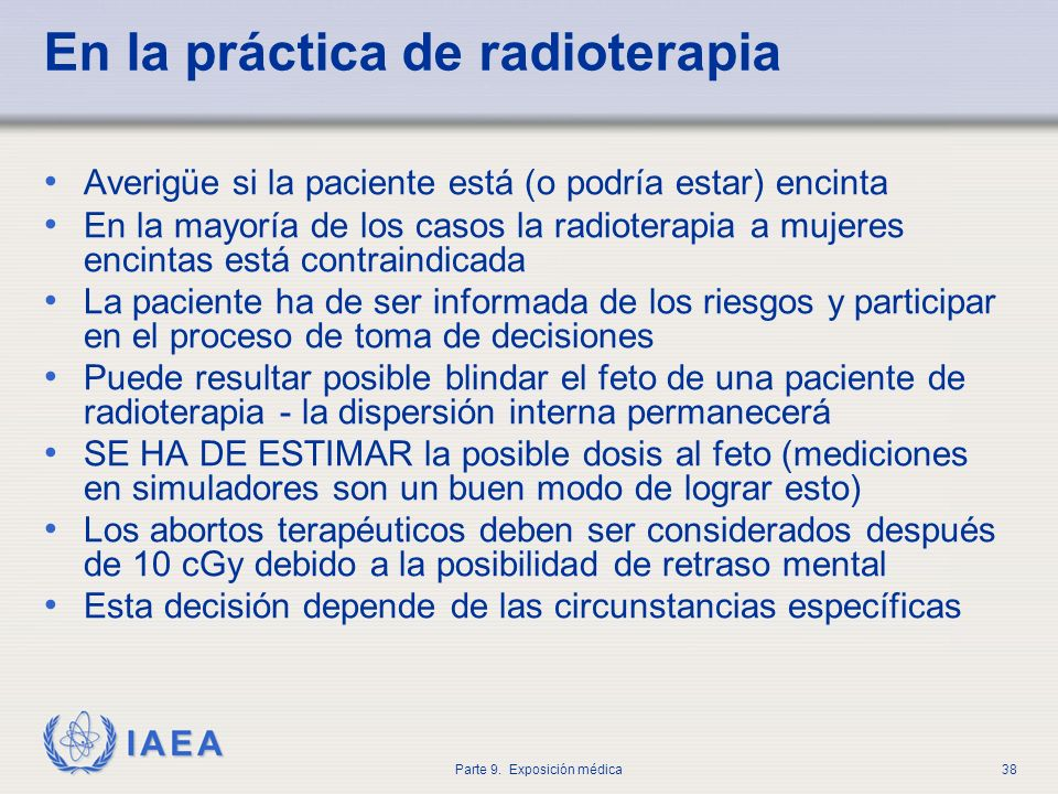 En la práctica de radioterapia