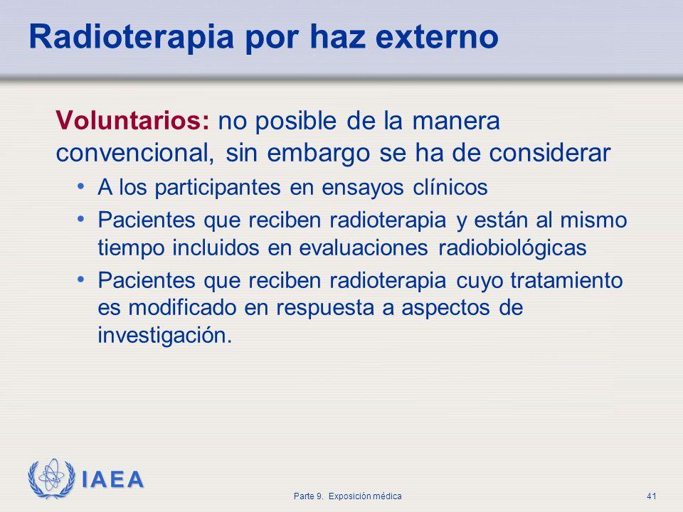 Radioterapia por haz externo