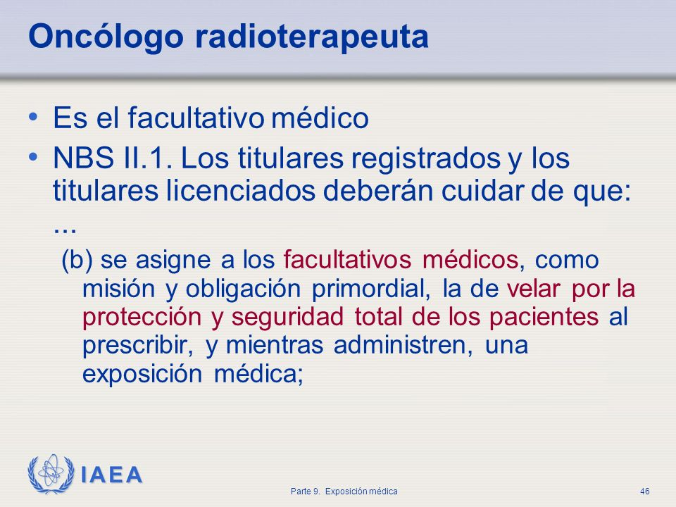 Oncólogo radioterapeuta