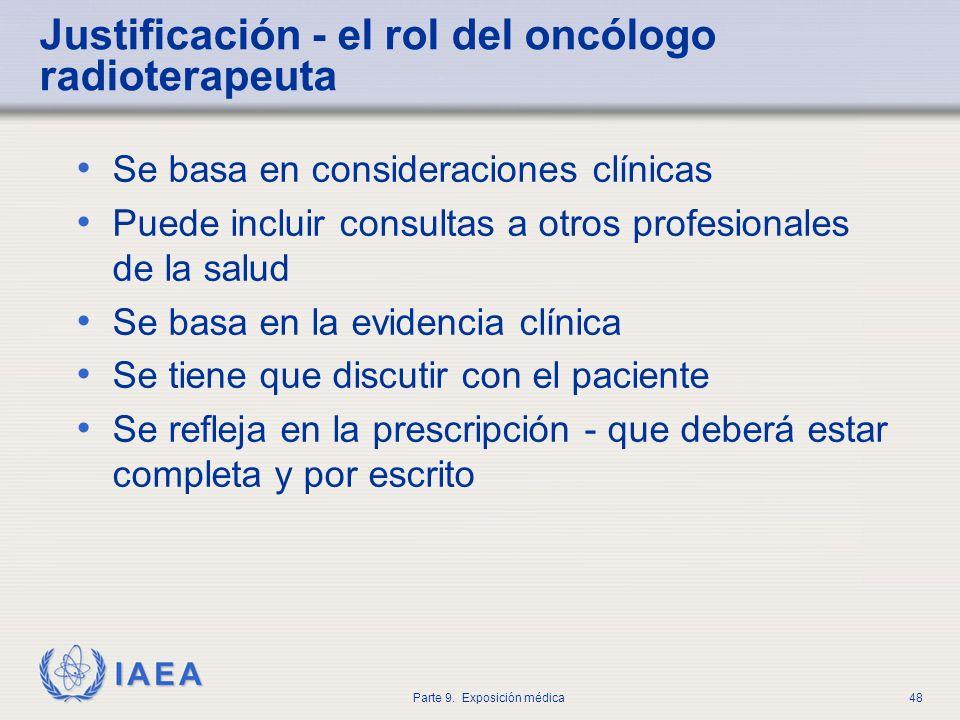 Justificación - el rol del oncólogo radioterapeuta