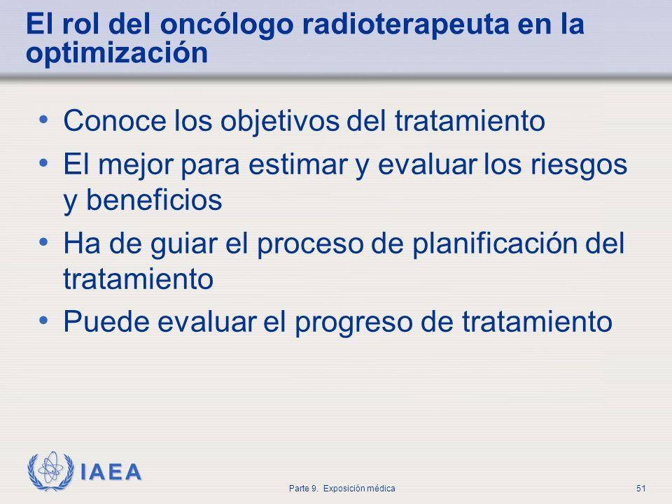 El rol del oncólogo radioterapeuta en la optimización