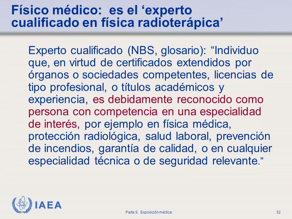 Físico médico: es el 'experto cualificado en física radioterápica'