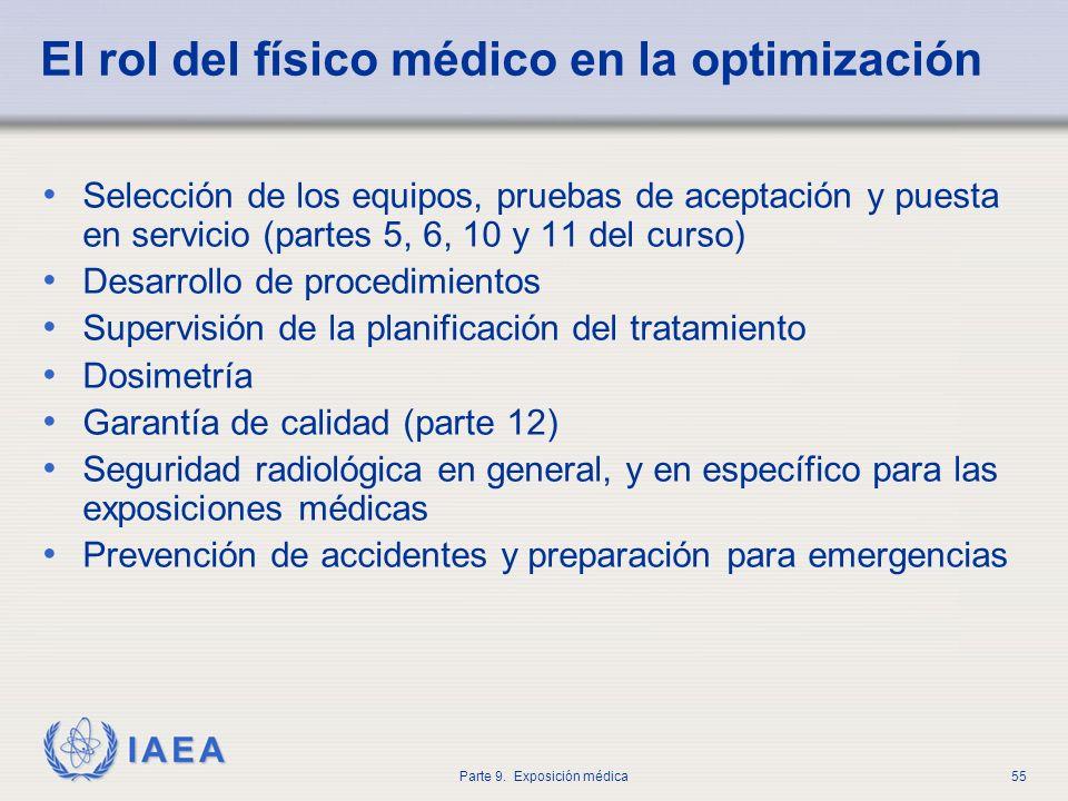 El rol del físico médico en la optimización