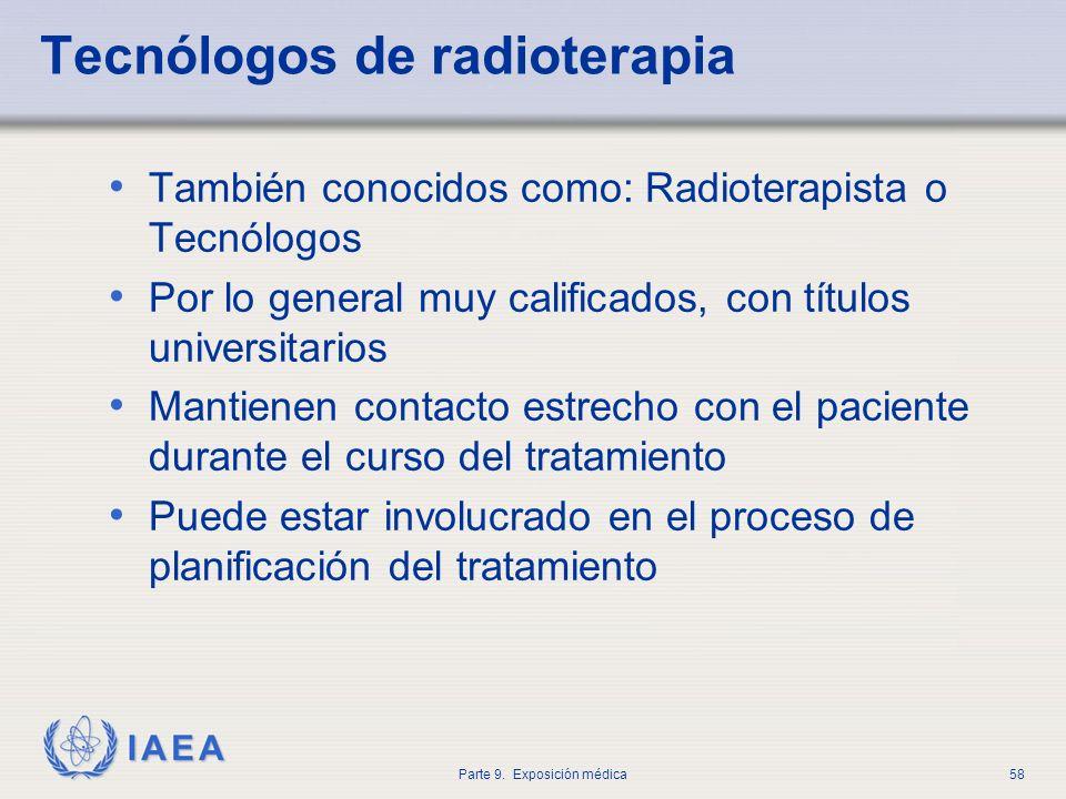 Tecnólogos de radioterapia