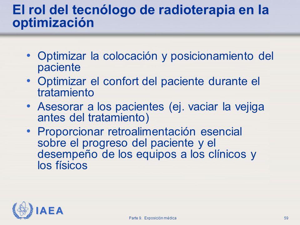 El rol del tecnólogo de radioterapia en la optimización