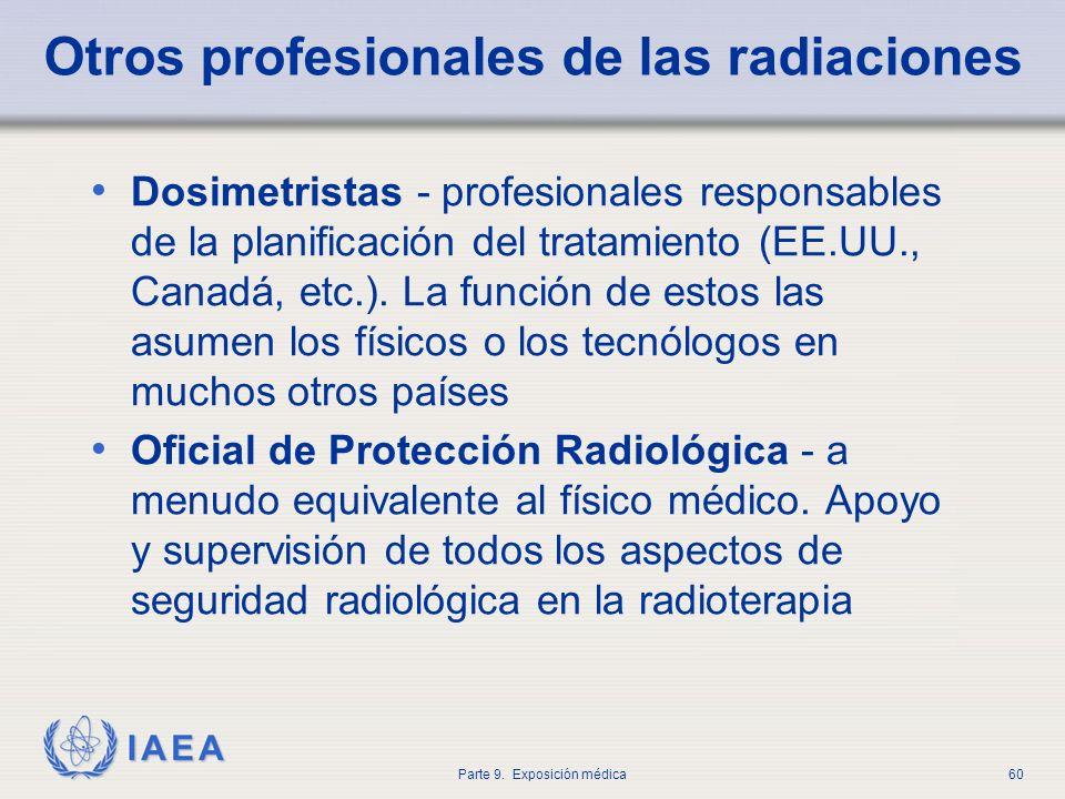 Otros profesionales de las radiaciones