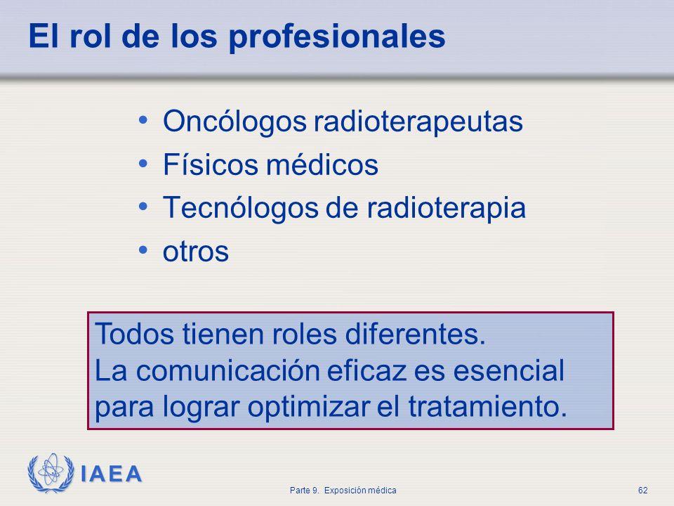 El rol de los profesionales