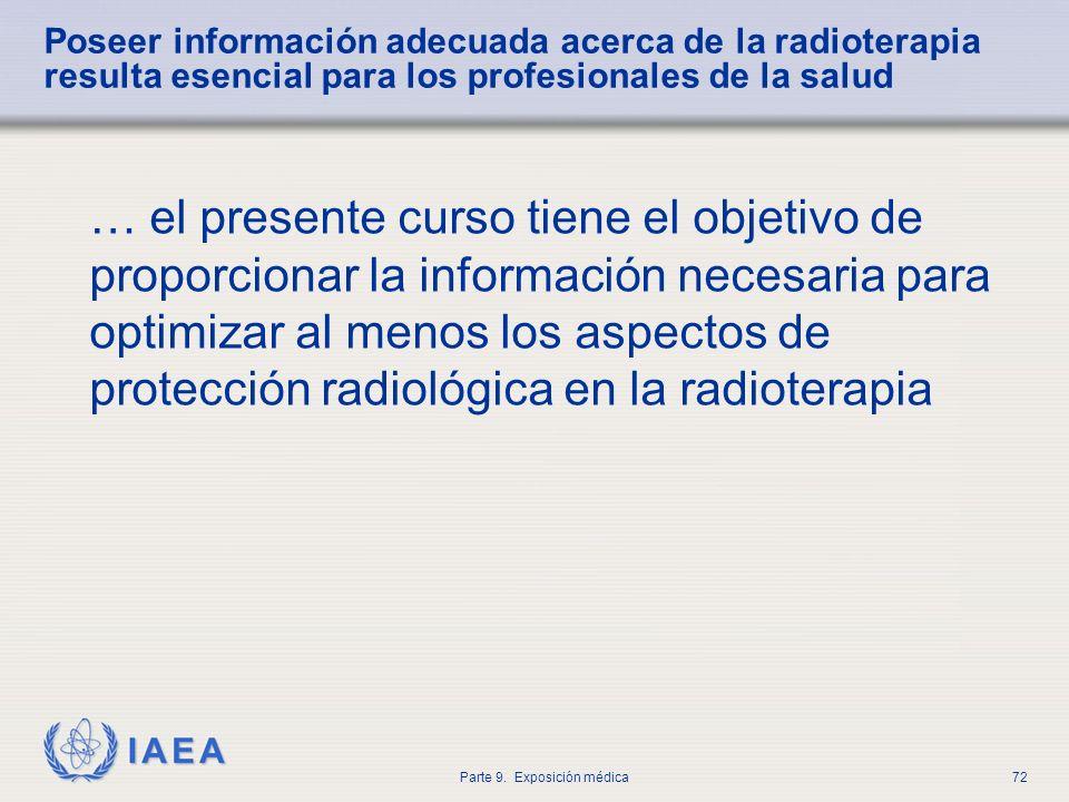 Poseer información adecuada acerca de la radioterapia resulta esencial para los profesionales de la salud
