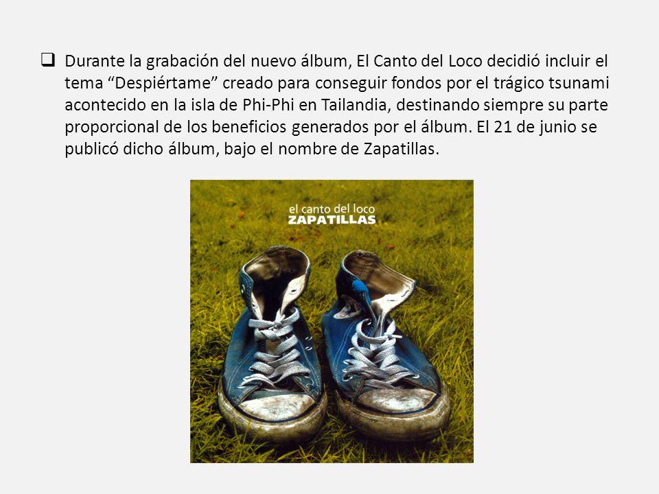 Durante la grabación del nuevo álbum, El Canto del Loco decidió incluir el tema Despiértame creado para conseguir fondos por el trágico tsunami acontecido en la isla de Phi-Phi en Tailandia, destinando siempre su parte proporcional de los beneficios generados por el álbum.