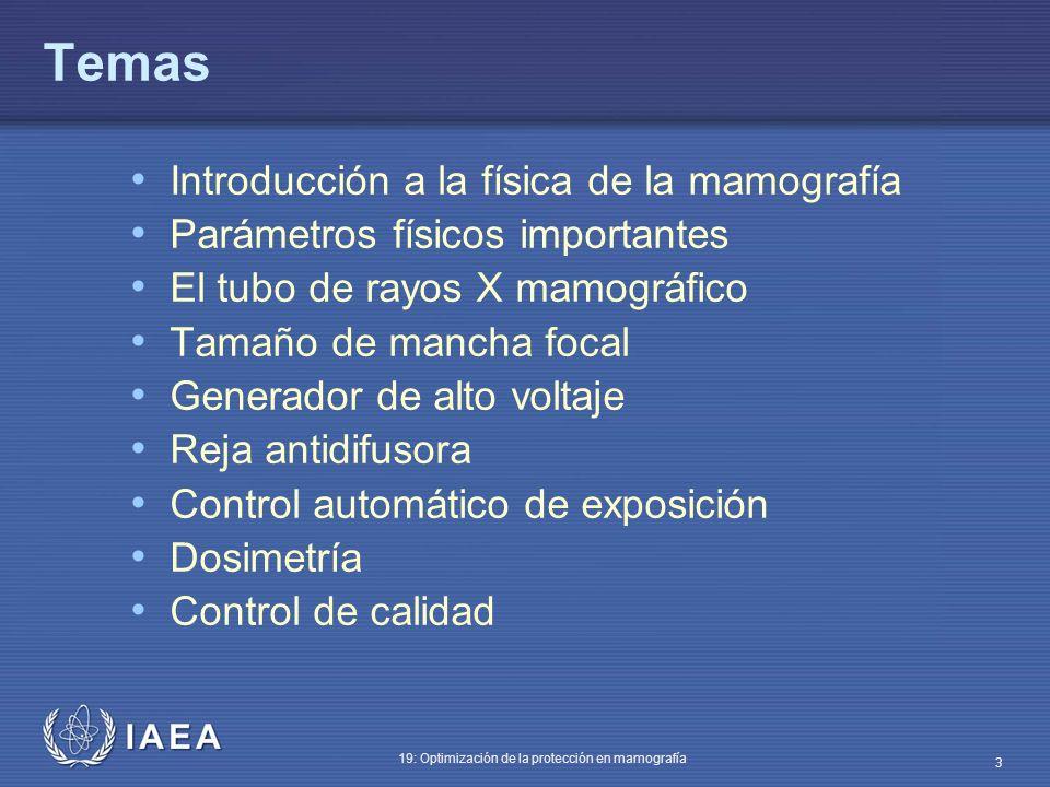 Temas Introducción a la física de la mamografía