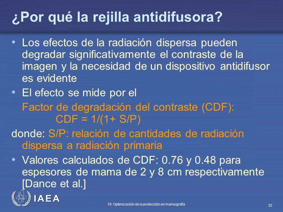 ¿Por qué la rejilla antidifusora