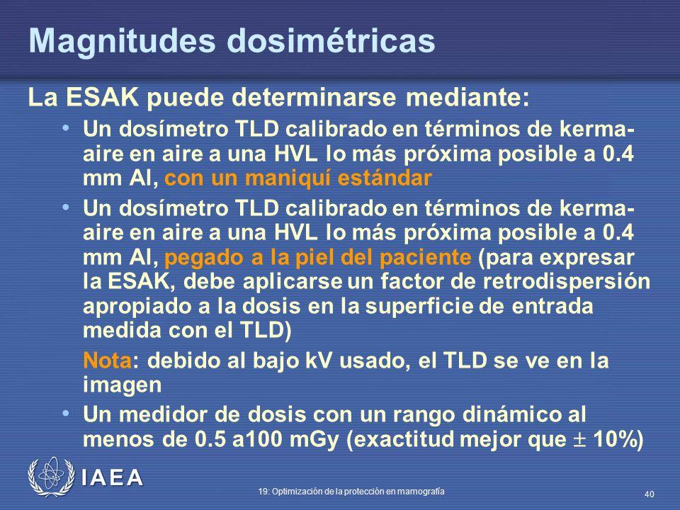 Magnitudes dosimétricas