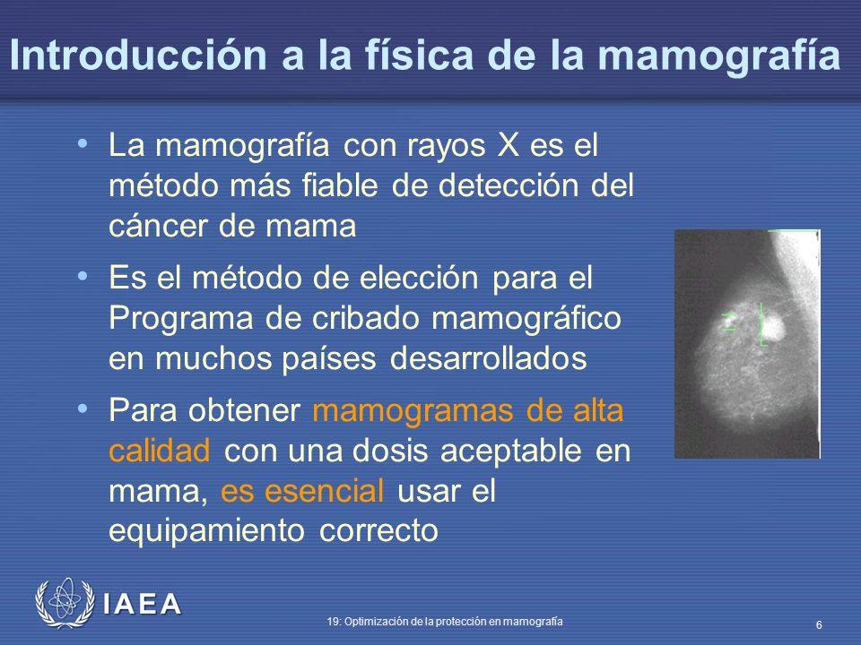 Introducción a la física de la mamografía