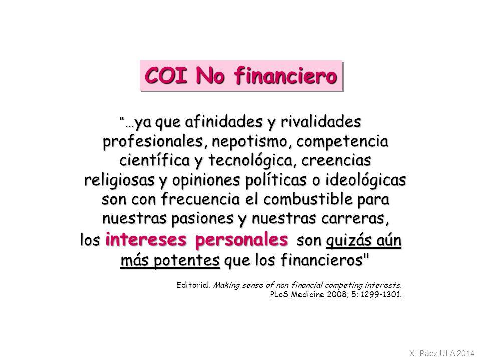 COI No financiero