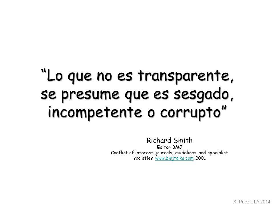 Lo que no es transparente,