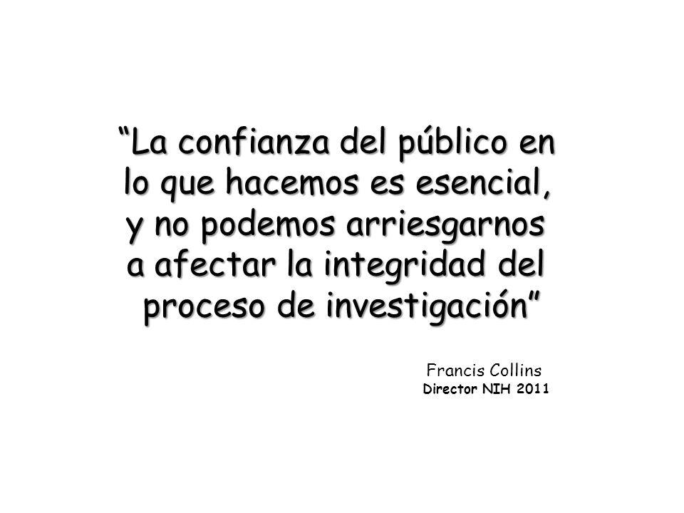 La confianza del público en lo que hacemos es esencial,