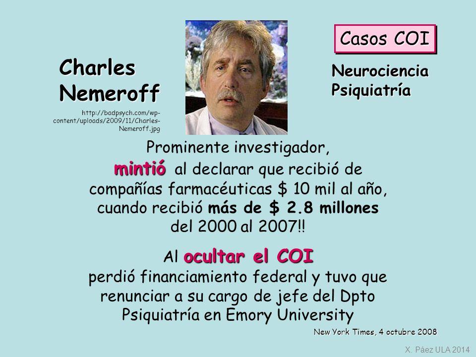 Charles Nemeroff Casos COI