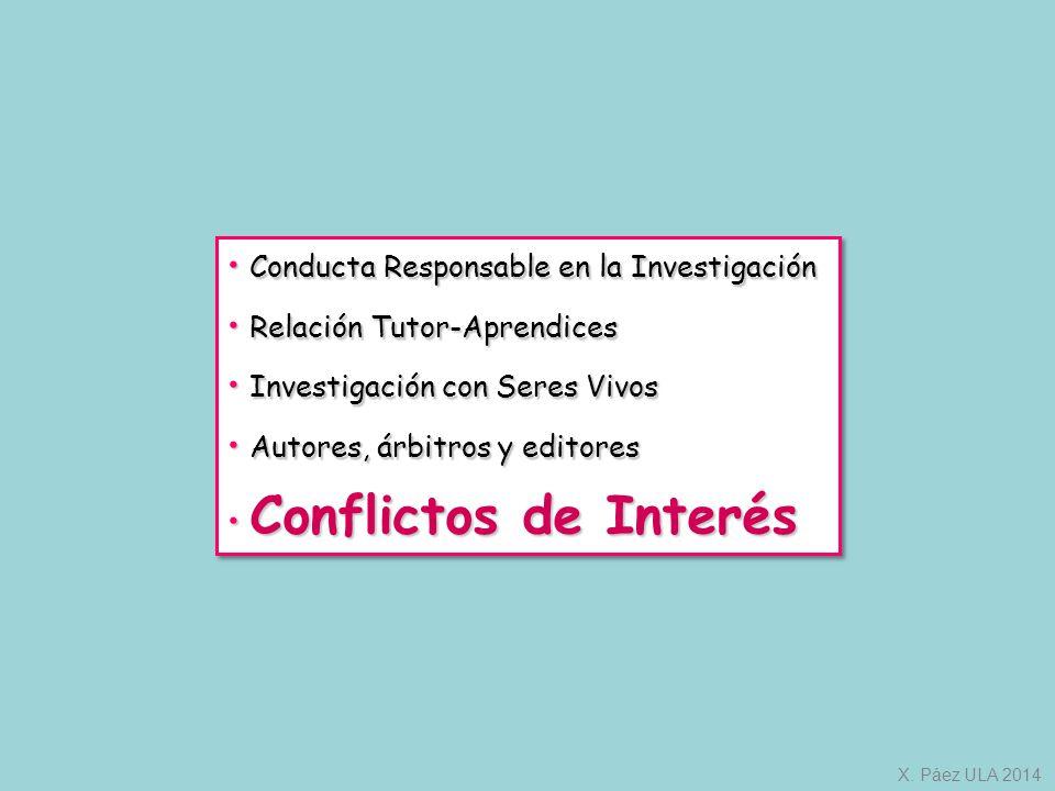Conducta Responsable en la Investigación Relación Tutor-Aprendices