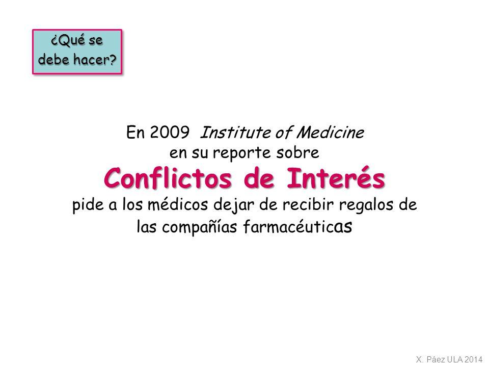 En 2009 Institute of Medicine