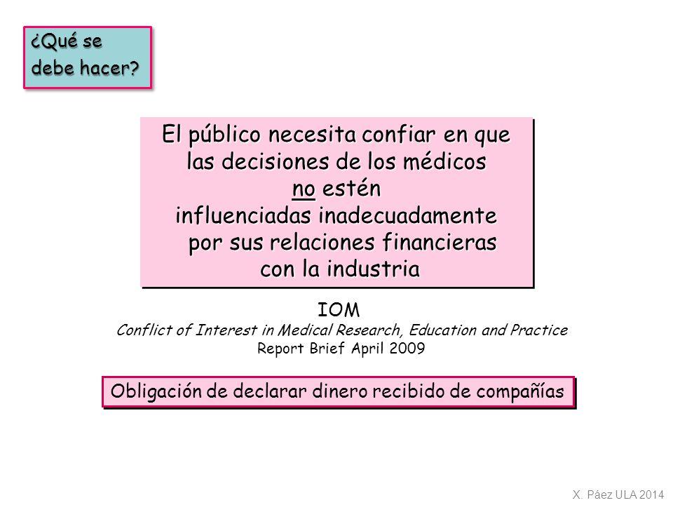 El público necesita confiar en que las decisiones de los médicos