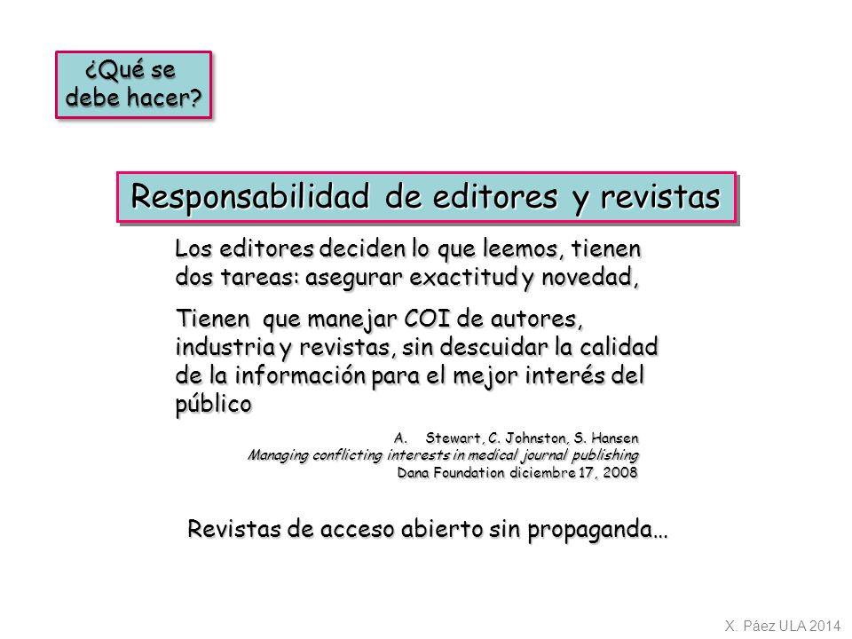 Responsabilidad de editores y revistas