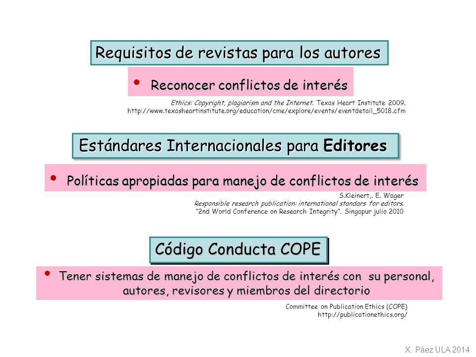 Estándares Internacionales para Editores
