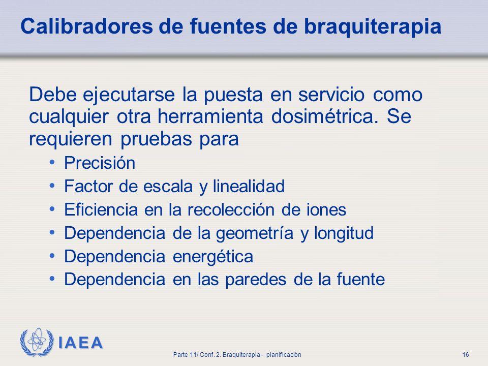 Calibradores de fuentes de braquiterapia