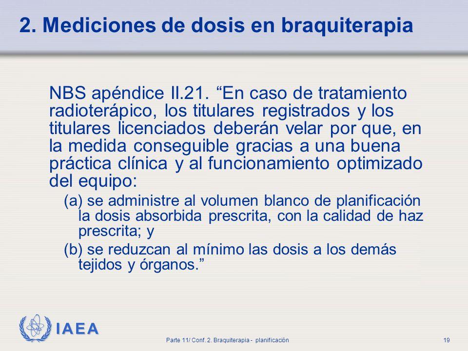 2. Mediciones de dosis en braquiterapia
