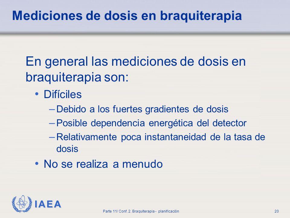 Mediciones de dosis en braquiterapia