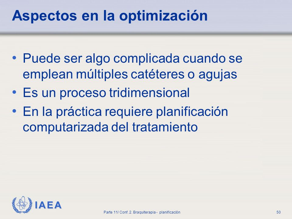 Aspectos en la optimización