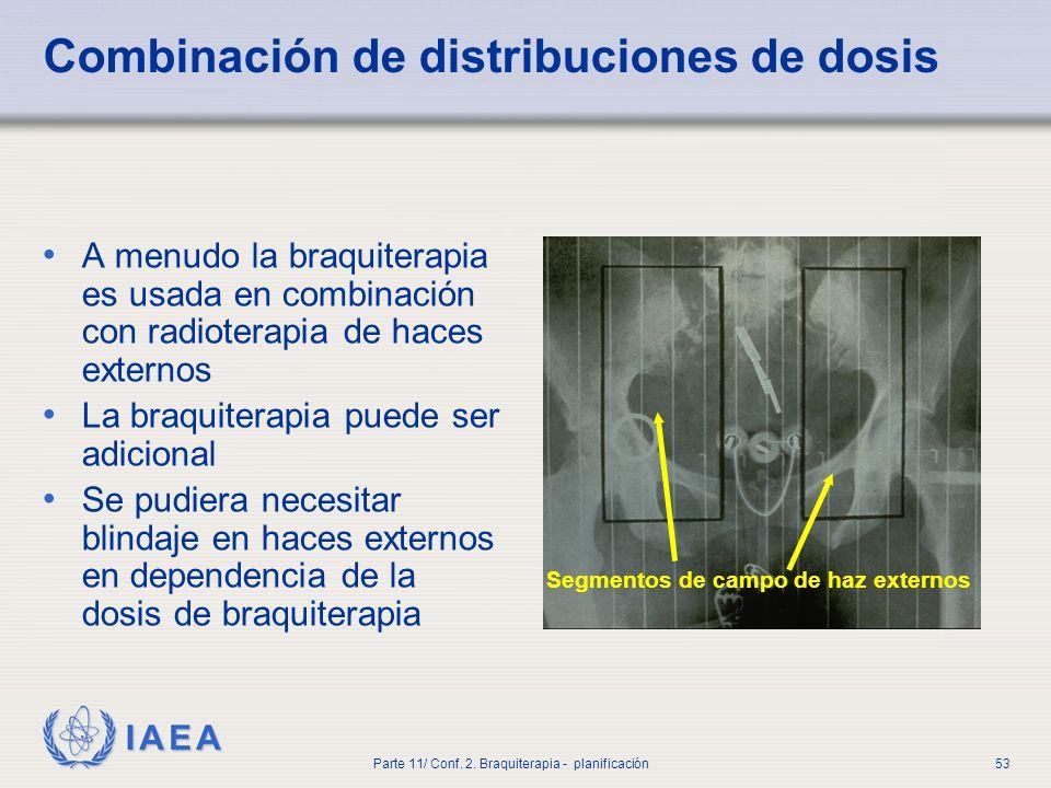 Combinación de distribuciones de dosis