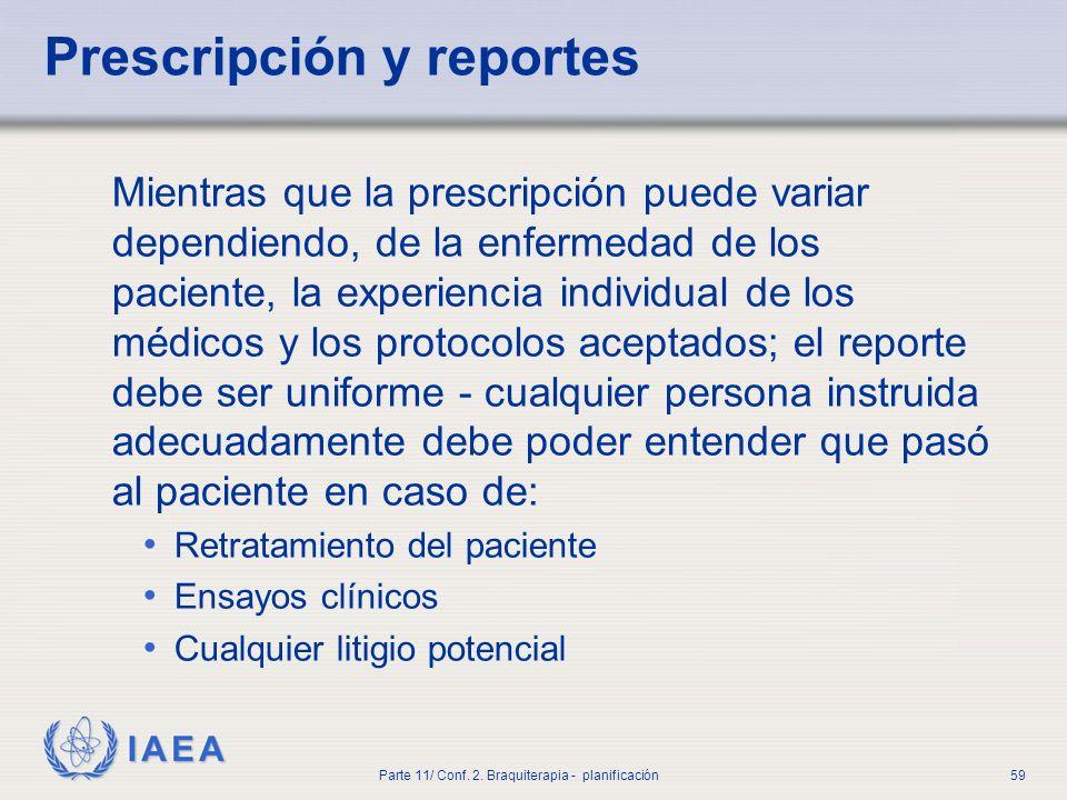 Prescripción y reportes