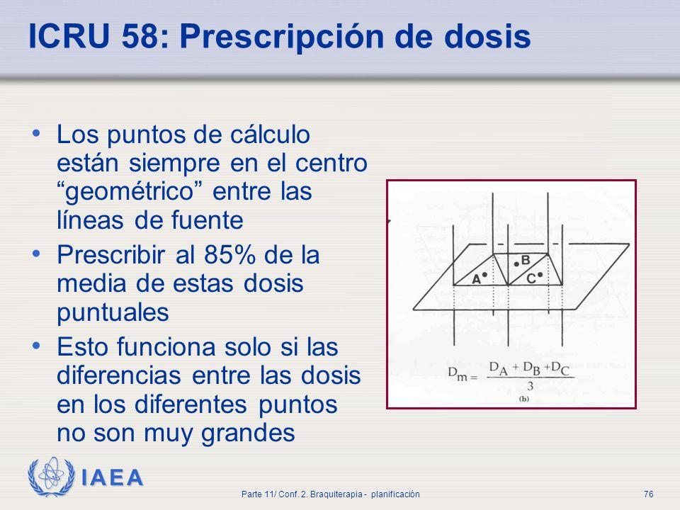 ICRU 58: Prescripción de dosis