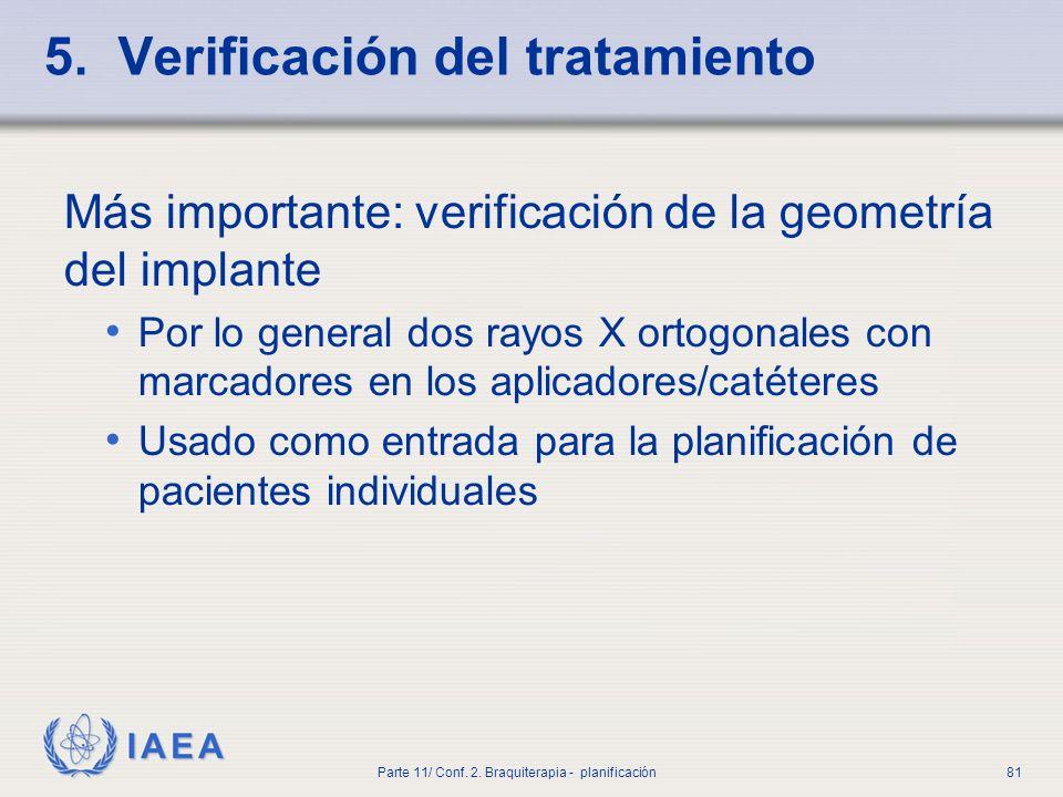 5. Verificación del tratamiento