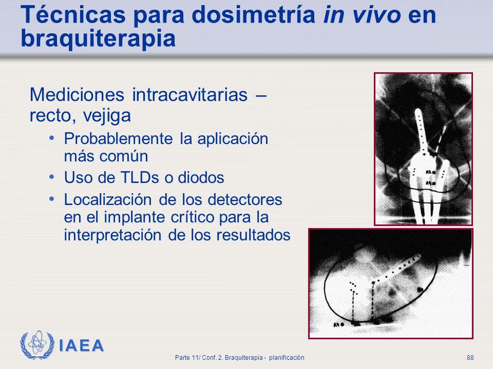 Técnicas para dosimetría in vivo en braquiterapia