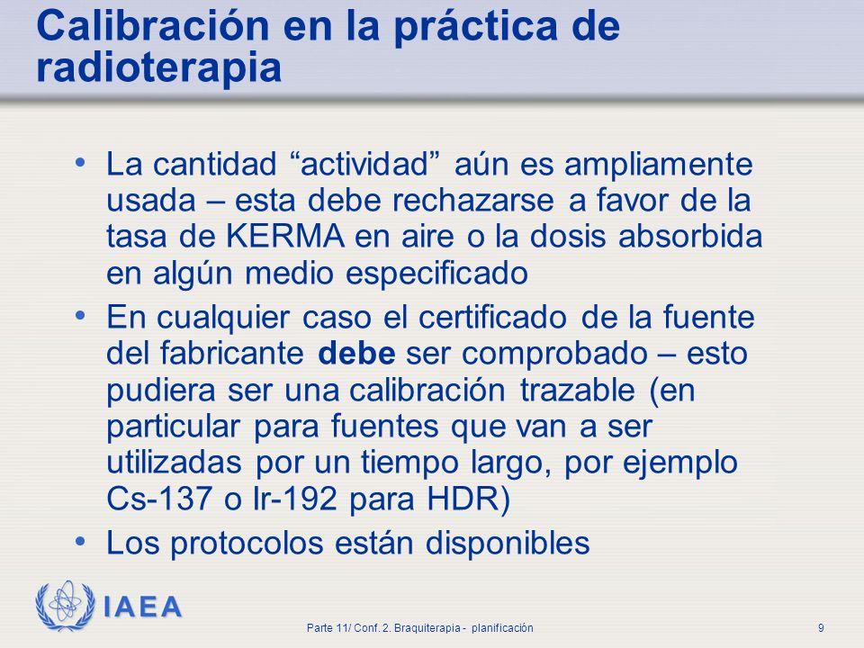 Calibración en la práctica de radioterapia