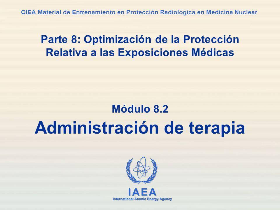 Módulo 8.2 Administración de terapia